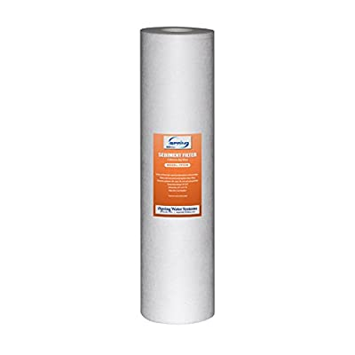 iSpring 2S-20BB-5M Big Blue Whole House Water Filter with 4.5-Inch Diameter and 20-Inch Length, 2-Pack