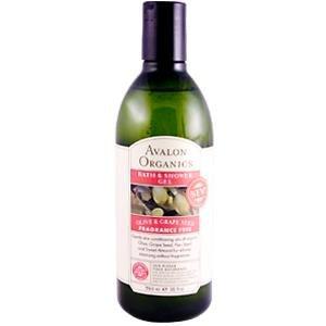 Avalon Olive et salle de bain de pépins de raisin et de gel douche, sans parfum, 12-Ounce Bottle