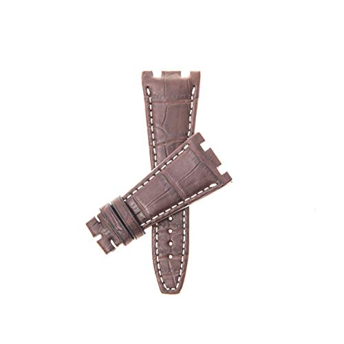 - Milano Straps Matt Alligator Watch Strap - Genuine Louisiana Alligator - Audemars Piguet Compatible - Replacement Watch Band - Perfect for Men & Women, 28 mm, Black