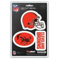 NFL Cleveland Browns Team Decal, 3-Pack