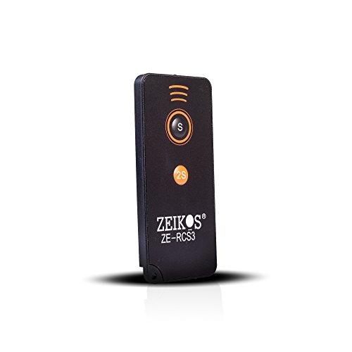 Zeikos Remote - Zeikos ZE-RCS3 Wireless Remote Control -Sony Alpha Camera A7R III, A9 A7R II, A7 II, A7, A7R, A7S, A6500, A6300, A6000, A55, A65, A77, A99, A900, A700, A580, A560, A550, A500, A450, A390 & A380