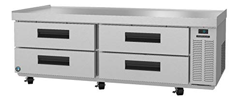 Hoshizaki CRES72, Refrigerator, Two Section Equipment Stand Prep Table, Stainless Drawers