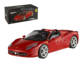 Ferrari 458 Italia Spider Red Elite Edition 1/43 by Hotwheels W1182