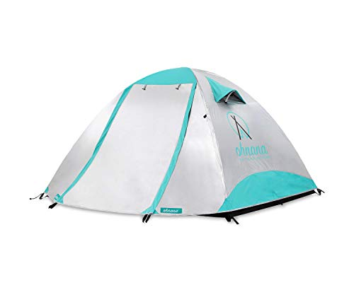 Ohnana Cool 2-Person, Heat-Blocking Rayve Tent. Perfect for Festivals, Backpacking, as Well as Beach and Family Camping. (Best Tent For Burning Man)