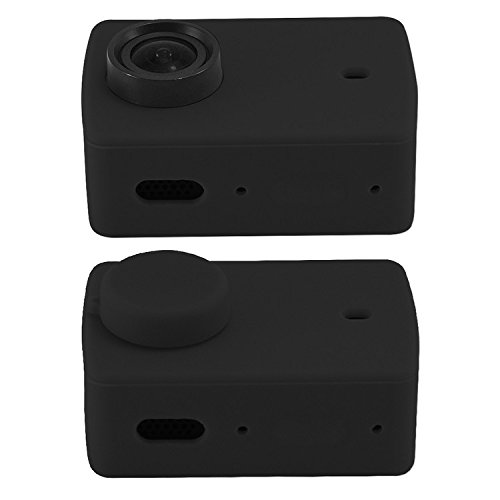 First2savvv Rubber Protective Silicone Soft Case Cover Protector Skin For Xiaomi Xiaoyi 4K Action Camera dive stick XM2-GJT-01QSB