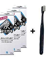 Japan Charcoal Toothpaste with Original Toothbrush (3 with toothbrush)