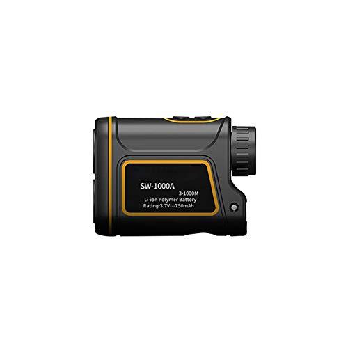 Laser Range Finder 1000 Meters Binoculars Rangefinder Power Device with High Precision USB Charging Flag Lock Black Orange 1PC