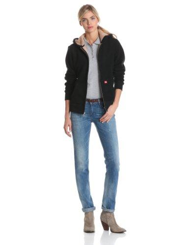 Dickies Women's Sherpa Lined Fleece Jacket,Black,X-Large