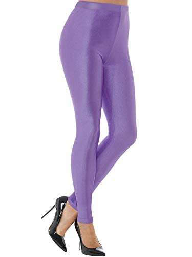 jntworld The Woman Stretchy Polyester Spandex Lycra Full Ankle Color Legging (30 Colour Choice) (Regular, Lavender) -