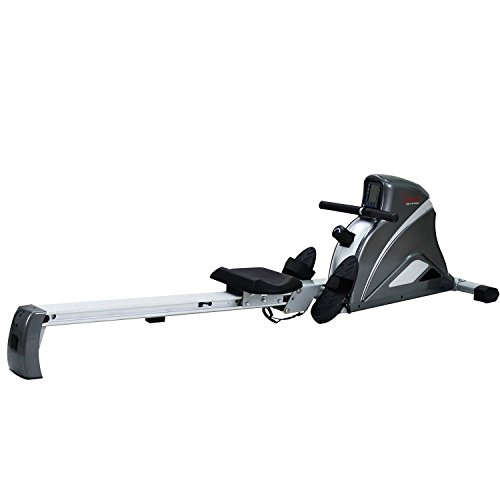 Sunny Health & Fitness SF-RW5508 Ultra Tension Magnetic Pro Rowing Machine Rower w/LCD Monitor