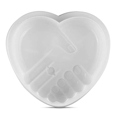 SAKOLLA Heart Shaped Silicone Cake Pan - 7 inch Flexible Nonstick Silicone Baking Pan,Chocolate,Brownie,Jelly,Cheesecake,Fondant,Candy