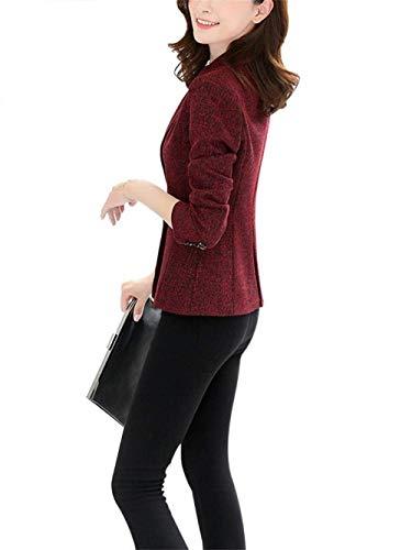 Manica Ragazzi Giubbino Primaverile Bavero Lunga Ufficio Blazer Tailleur Tasche Classiche Business Giacca Monocromo Da Rot Outerwear Slim Elegante Donna Autunno Moda Con Fit 1z7CqR