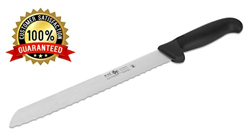 ICEL Cutlery 8-inch wavy edge Bread Slicer knife. NSF Approved, Black Handle by ICEL (Image #1)