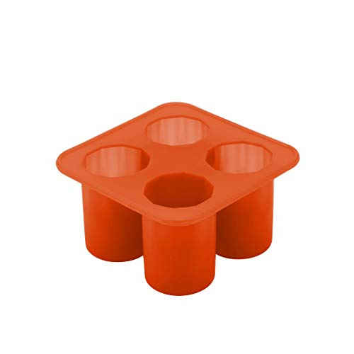 Ice Cube Trays, Easy-Release Silicone and Flexible 4-Ice Trays, LFGB Certified and BPA Free, Stackable Durable and Dishwasher Safe