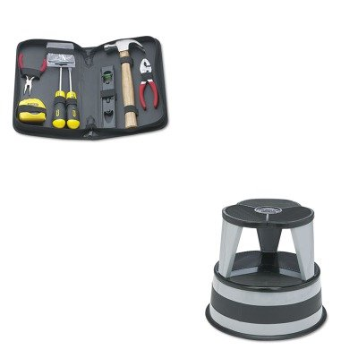 (KITBOS92680CRA100182 - Value Kit - Cramer Original Kik-Step Steel Step Stool (CRA100182) and Stanley General Repair Tool Kit in Water-Resistant Black Zippered Case (BOS92680))