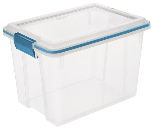 Latch Block (Sterilite 19324306 20 Quart/19 Liter Gasket Box, Clear with Blue Aquarium Latches and Gasket, 6-Pack)