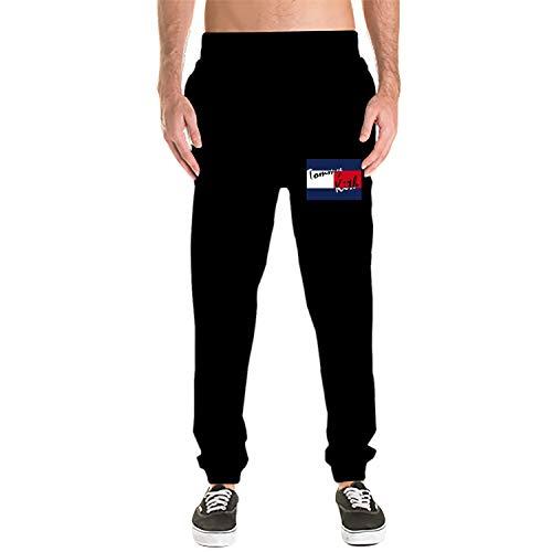 Michelle Penn Tommy Kith Men's Casual Fleece Sweatpants Cotton Active Elastic Pocket Pants