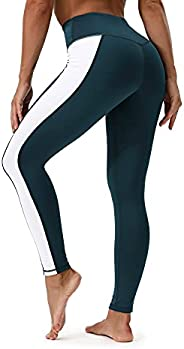 Casulo Leggings with Pockets for Women Yoga Pants Tummy Control Through Workout Pants