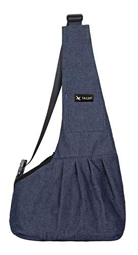 Pnizun Pet Dog Carring Bag Mesh Cloth Puppy  huahua Yorkies Small Cat Slings Backpack [Demim Blue M]