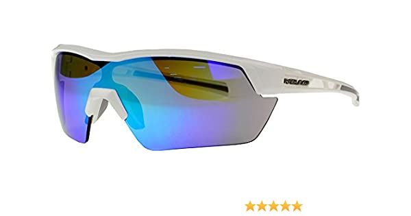 4a561e87d5d Amazon.com  Rawlings Kids  134 Baseball Sunglasses (White Blue Mirror)   Sports   Outdoors