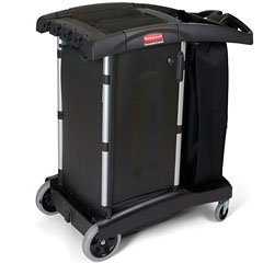 Rubbermaid Commercial Products Rcp 9T77 Compact Turndown House Keeping Cart (Black) RCP 9T77