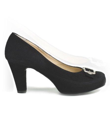 Stocker Sapatos Ponto Dirndl 6000 Preto, Tamanho 37