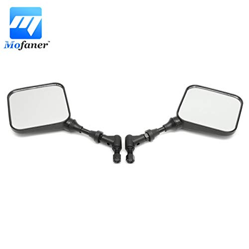 Price comparison product image Udele-Store - 1 Pair Black Dual Sport Motorcycle Mirrors Side Mirrors For Suzuki DR 200 250 DR350 350 DRZ 400 650 DR650