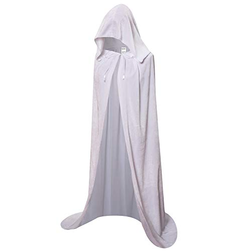 OurLore Unisex Full Length Hooded Robe Cloak Long Velvet Cape Cosplay Costume 59 -