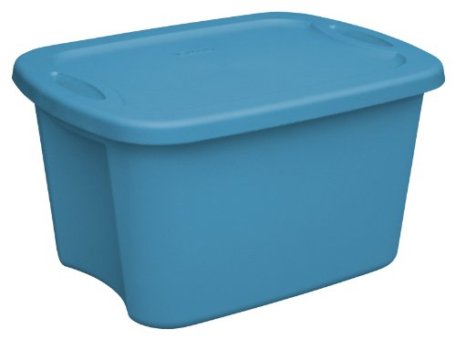 Sterilite 18204309 10 Gallon/38 Liter Tote, Blue Aquarium, - Gallon Tote 10