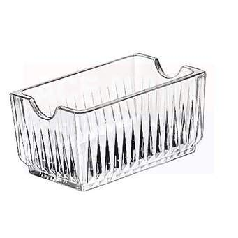 Arrow Home Products Essential for Home Faceted Glass Sugar Packet Holder,, Clear