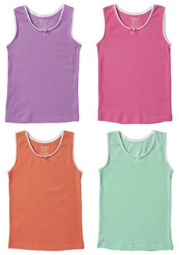 Sportoli Girls Ultra Soft 100/% Cotton White Tank Top Undershirts