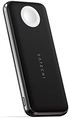 Satechi Quatro Wireless Power Bank – 10,000 mAh Portable Charger – Compatible with iPhone 12 Pro Max/12 Mini/12, iPhone 11 Pro Max/11 Pro/11, Apple Watch Series 6/SE5/4/3/2/1, AirPods Pro