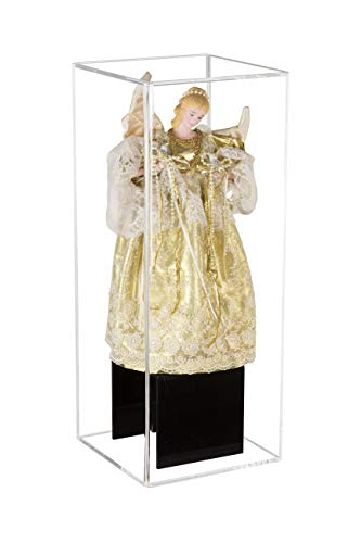 Deluxe Clear Acrylic Figurine Display Case for Doll Bobblehead Action Figure or Collectible Toy Figure (A085A)
