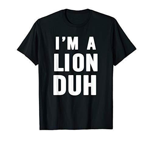 Easy Halloween Lion Costume Shirt for Men Women Kids -