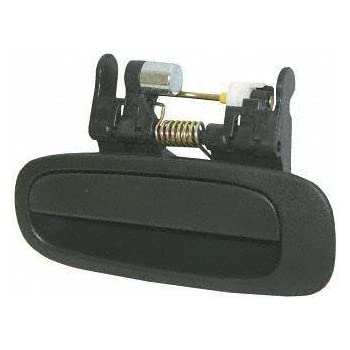 98 02 Toyota Corolla Rear Door Handle Lh Driver Side Assy Outside Flat Black