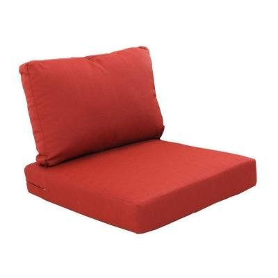 Hampton Bay Beverly Cardinal Replacement 2-Piece Outdoor Sectional Chair Cushion (Hampton Bay Cushions)