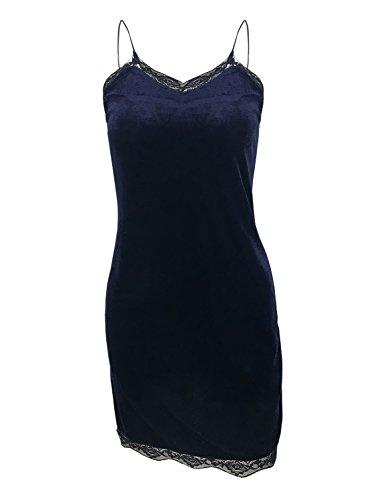Futurino - Vestido - trapecio - para mujer azul marino