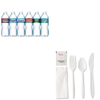KITGER6KITMWNLE101243 - Value Kit - General Supply Wrapped Cutlery Kit (GER6KITMW) and Nestle Bottled Spring Water (NLE101243)