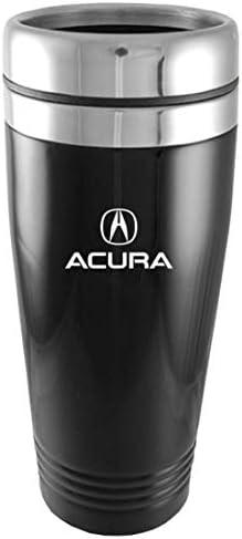 Au-Tomotive Gold, INC. Acura Logo 14oz Black Stainless Steel Travel Mug