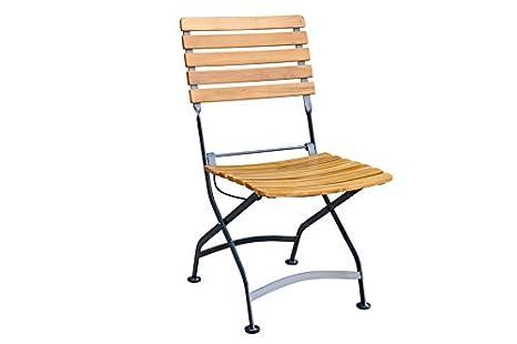 Silla de jardín silla plegable sin reposabrazos Nizza, teca ...