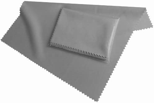 HighTech Microfiber Display Cleaning Cloth Grey - Washable (19cm x 20cm) - Microfibre for Smartphone, eBook Readers, Tablet PC, Glasses