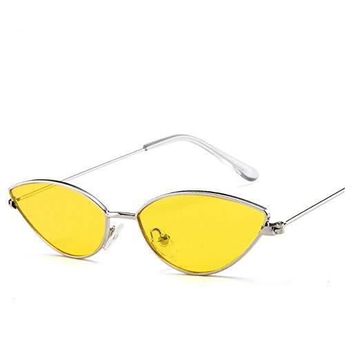 Súper Eye Retro Polarizadas Mujer Espejo UV400 de Fliegend Amarillo Unisex para Gafas Lente Ligero Sol Cat Vintage Hombre Gafas de Gafas Sol tYww7UqzHx