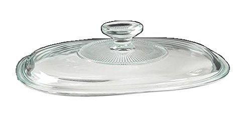 Corning Ware/Pyrex Clear Oval Glass Lid (Ribbed) (7