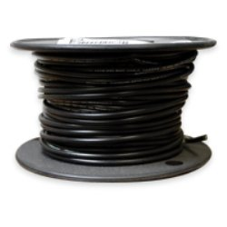 16 AWG Tinned Marine Primary Wire, Black, 250 Feet