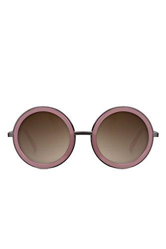 [PERVERSE sunglasses Geek Chic Round Sunglasses (Pink/Gunmetal Gray, Brown)] (Geek Chic Glasses)