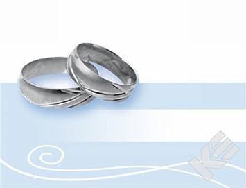 Tischkarte Silberhochzeit Beutel 6st Ausgestanzte Ringe Amazon De