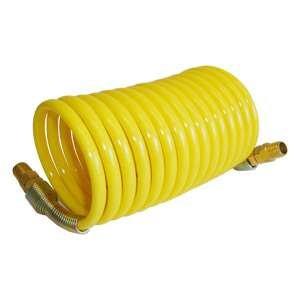 Interstate Pneumatics HR14-012 1/4 Inch 12 ft long w/1/4 Inch NPT Swivel Fittings, Recoil Yellow Nylon Hose