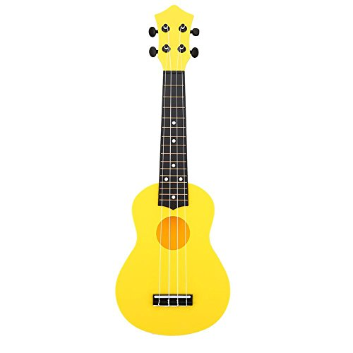 Dilwe 21inch 4 Strings Mini Ukulele, Musical Instrument Toy Gift for Adult and Kids(Yellow)