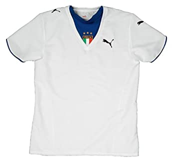 Puma Camiseta de fútbol Italia Away; tamaño XS Blanco