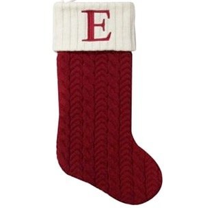 St. Nicholas Square 21-in Knit Monogram Christmas Stocking, Letter -